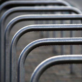 Steel bike racks by Omos
