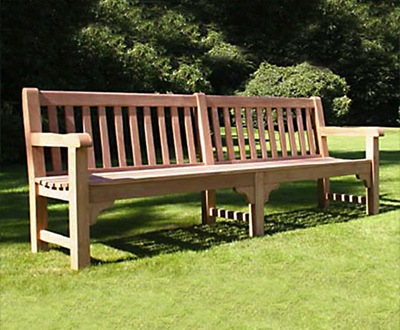Bloomsbury heavy-duty teak bench