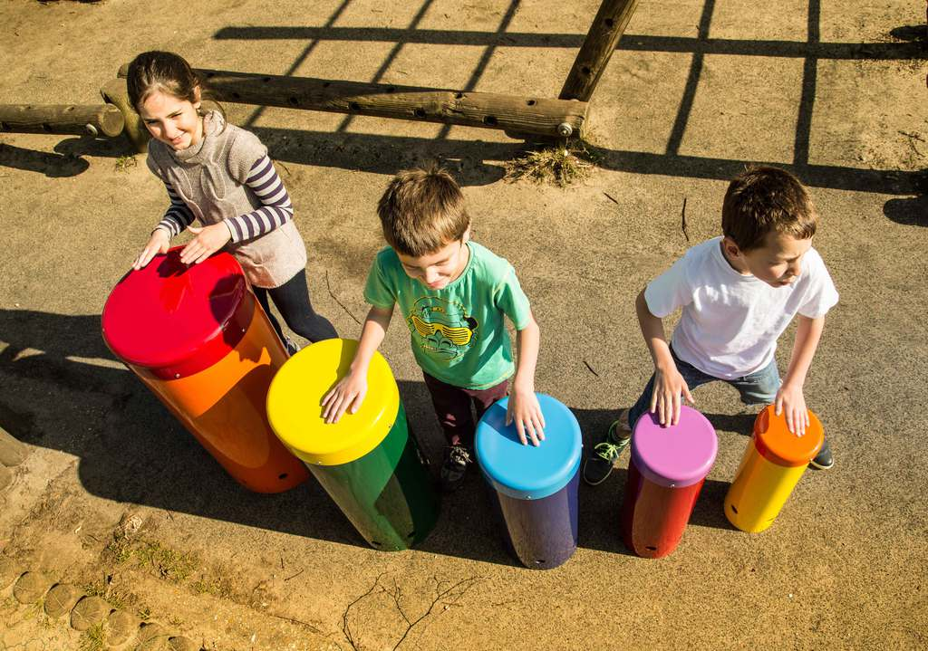 Rainbow samba drums by Percussion Play