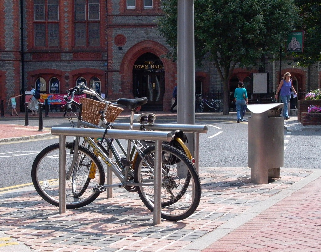 Steel cycle stand by Street Furniture Works
